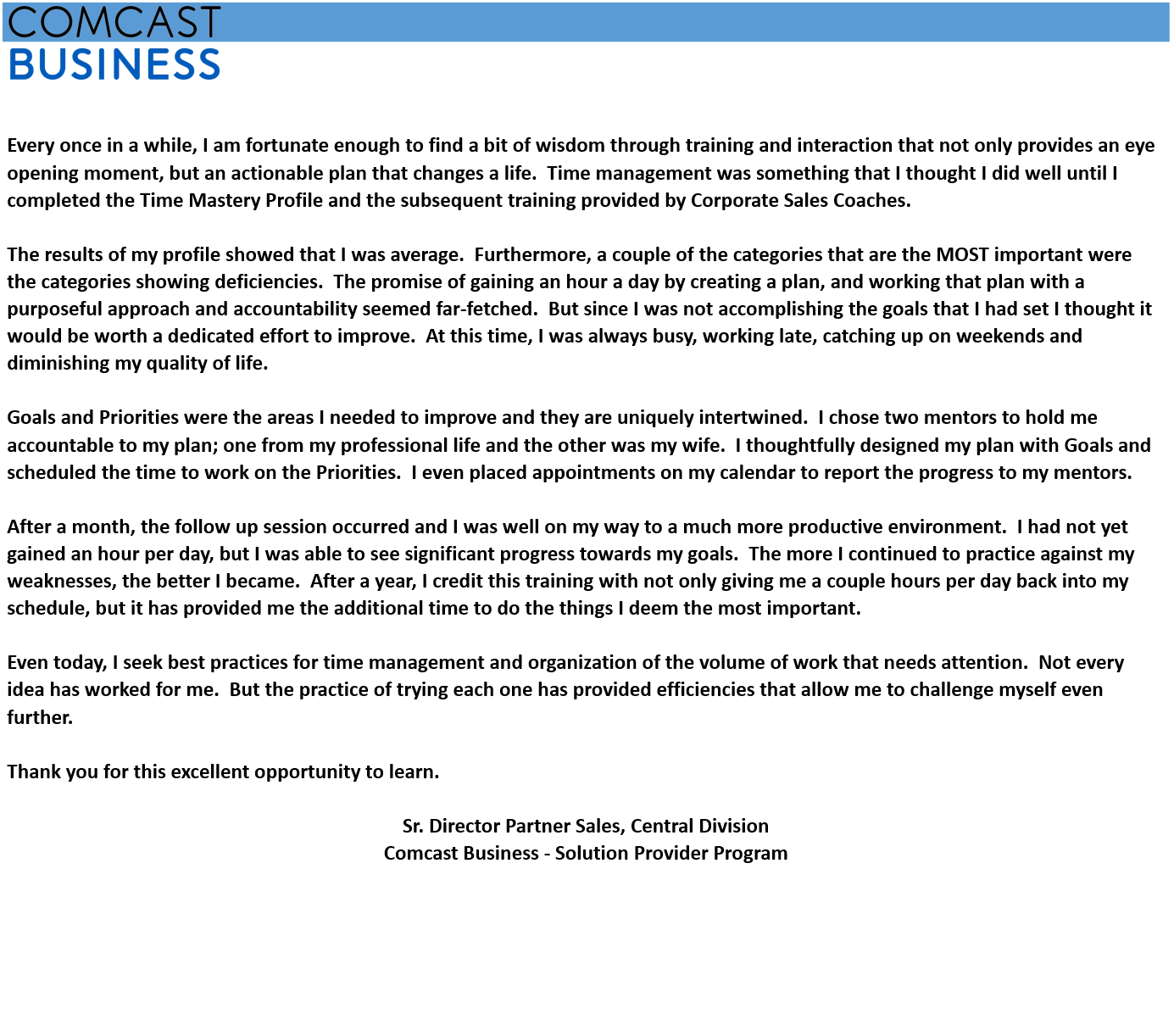 sample clients  testimonials  u2013 corporate sales coaches
